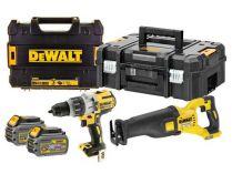 Sada aku nářadí DeWALT DCK2057T2T-QW: DCS388 + DCD996 + 2x aku 54V/6.0Ah Flexvolt + 2x kufr