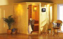 Finská sauna set Karibu Jarin + 9 kW Bio kamna s externím ovládáním