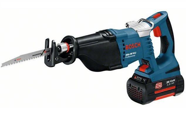Bosch GSA 36 V-LI Professional aku pila ocaska 2x 36V/2.6Ah