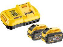 Sada nabíječky a akumuátorů DeWALT DCB118X2-QW - 2x 18/54V/9.0Ah Flexvolt + nabíječka