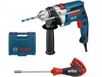 Příklepová vrtačka Bosch GSB 16 RE Professional - 750W, 2.2kg, kufr + DÁREK
