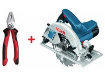Kotoučová pila Bosch GKS 190 Professional - 1400W, 190mm, 4.2kg, mafl + DÁREK