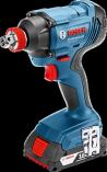Sada aku nářadí Bosch Professional: GDX 180-LI + GSR 180-LI + 2x aku 18V/1.5Ah + kufr (06019G5222) Bosch PROFI