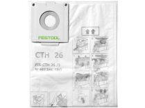 Bezpečnostní filtrační vak pro vysavače Festool CTH 26 - 3ks
