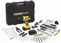 PowerPlus POWX00825 - 2x 20V/1.5Ah Li-Ion, Aku šroubovák - vrtačka bez příklepu, BMC kufr