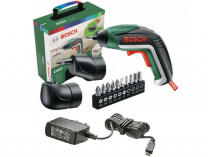 Bosch IXO V + úhlový a excentrický nástavec, aku šroubovák 3.6V/1.5Ah