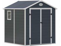 Plastový zahradní domek G21 PAH 357 - 188x190cm, šedý