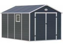 Plastový zahradní domek G21 PAH 882 - 241x366cm, plastový, šedý