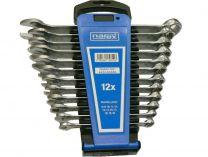 12 dílná sada očkoplochých klíčů Narex DIN 3113 - 8 až 22mm, plastový držák