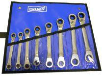 8-dílná PROFI sada ráčnových oboustranných klíčů Narex 5.5-17mm, DIN3113, vinylové pozdro