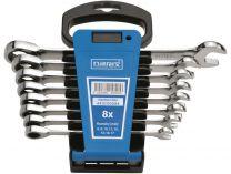 8-dílná PROFI sada ráčnových očkoplochých klíčů Narex 8-17mm, DIN3113, plastový držák