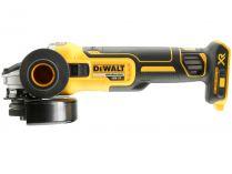 DeWalt DCG405NT bezuhlíková aku úhlová bruska bez aku a nabíječky, 18V Li-ion, 125mm, spojka a brzda, 9000ot/min, posuvný spínač, kufr Tstak