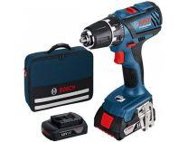 Bosch GSR 18-2-LI Professional - 2x 18V/1.5Ah, 38Nm, 1.3kg, taška, aku šroubovák bez příklepu