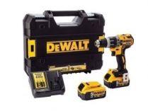 DeWALT DCD797P2B-QW - 2x 18V/5.0Ah, 70Nm, 1.87kg, kufr, bezuhl. aku vrtačka s příklepem