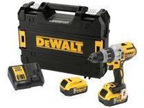 DeWALT DCD997P2B-QW - 2x 18V/5.0Ah, 95Nm, 2.2kg, kufr, bezuhl. aku vrtačka s příklepem