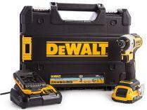 DeWALT DCF888D2B-QW - 2x18V/2.0Ah, 205Nm, 1.56kg, kufr, bezuhlíkový multifunkční aku rázový utahovák