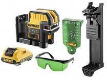 DeWALT DCE0822D1G-QW - 1x 10.8V/2.0Ah, 30m, brýle, držák na zeď, profi křížový laser