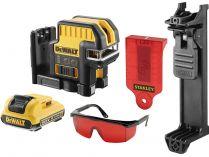 DeWALT DCE0825D1R-QW - 1x 10.8V/2.0Ah, 20m, brýle, držák na zeď, profi křížový laser