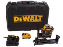 DeWALT DCE089D1R-QW - 1x 10.8V/2.0Ah, 15m, držák na zeď, kufr, profi křížový laser