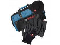Zimní sada a brašna na nářadí Bosch Winter set (Taška + čepice + rukavice + nákrčník)