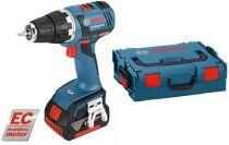 Bosch GSR 18 V-EC Professional - 2x 18V/4.0Ah, 50Nm, 1.9kg, kufr, bezuhl. aku vrtačka bez příklepu