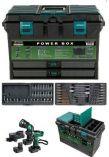 Hitachi DS12DVF3-PB PowerBox - 2x12V/1.4Ah, příslušenství, kufr, aku vrtačka bez příkl. + aku svítilna