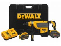 Bezuhlíkové kombi aku kladivo DeWALT DCH733X2-QW - 2x 18/54V/9.0Ah Flexvolt, SDS-Max, 13.3J, kufr