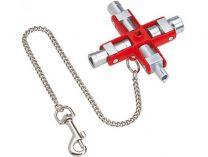 Univerzální klíč na rozvodné skříně KNIPEX, délka ramen: 90mm