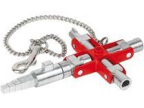 Univerzální klíč na rozvodné skříně KNIPEX, se čtyřhranem, pro stavebnictví, délka ramen: 157/95mm