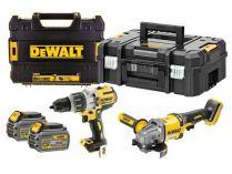 Sada aku nářadí DeWALT DCK2055T2T-QW: DCG414 + DCD996 + 2x 18/54V/6.0Ah Flexvolt + 2x kufr