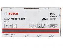 50x Brusný papír do delta brusky Bosch C470, 93mm, zr.80, 6 otvorů