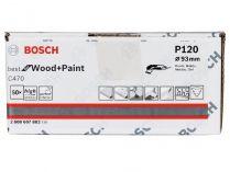 50x Brusný papír do delta brusky Bosch C470, 93mm, zr.120, 6 otvorů