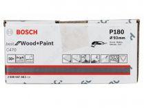 50x Brusný papír do delta brusky Bosch C470, 93mm, zr.180, 6 otvorů