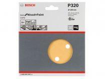 5x Brusný kotouč do excentrické brusky Bosch C470 - 150mm, zr.320, 6 otvorů, suchý zip