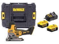 DeWALT DCS335P2-QW - 2x 18V/5.0Ah, 135mm, 2.1kg, kufr, bezuhlíková aku přímočará pila
