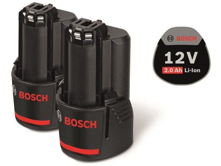 2x Akumulátor Bosch GBA 12V 2.0Ah Professional - 12V/2.0Ah, 0.175kg (1600Z00040) Bosch příslušenství