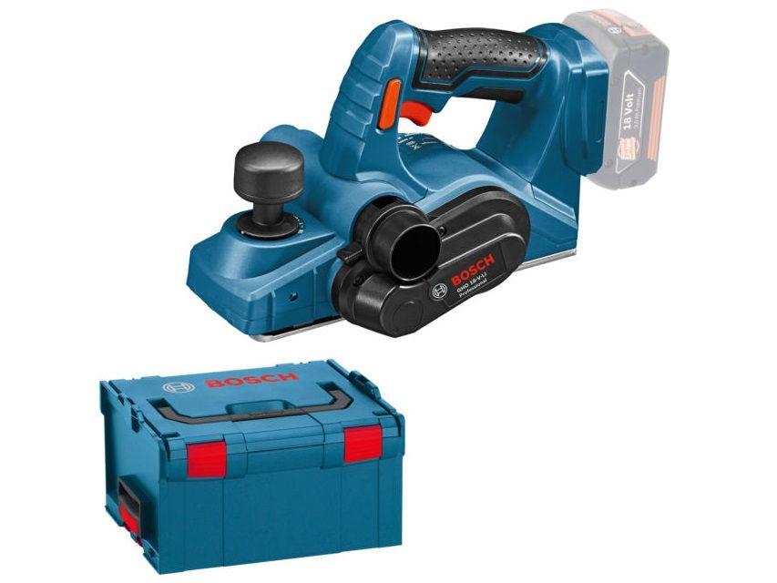 Aku hoblík Bosch GHO 18 V-LI Professional - 18V, 82mm, kufr, bez akumulátoru a nabíječky (06015A0300) Bosch PROFI