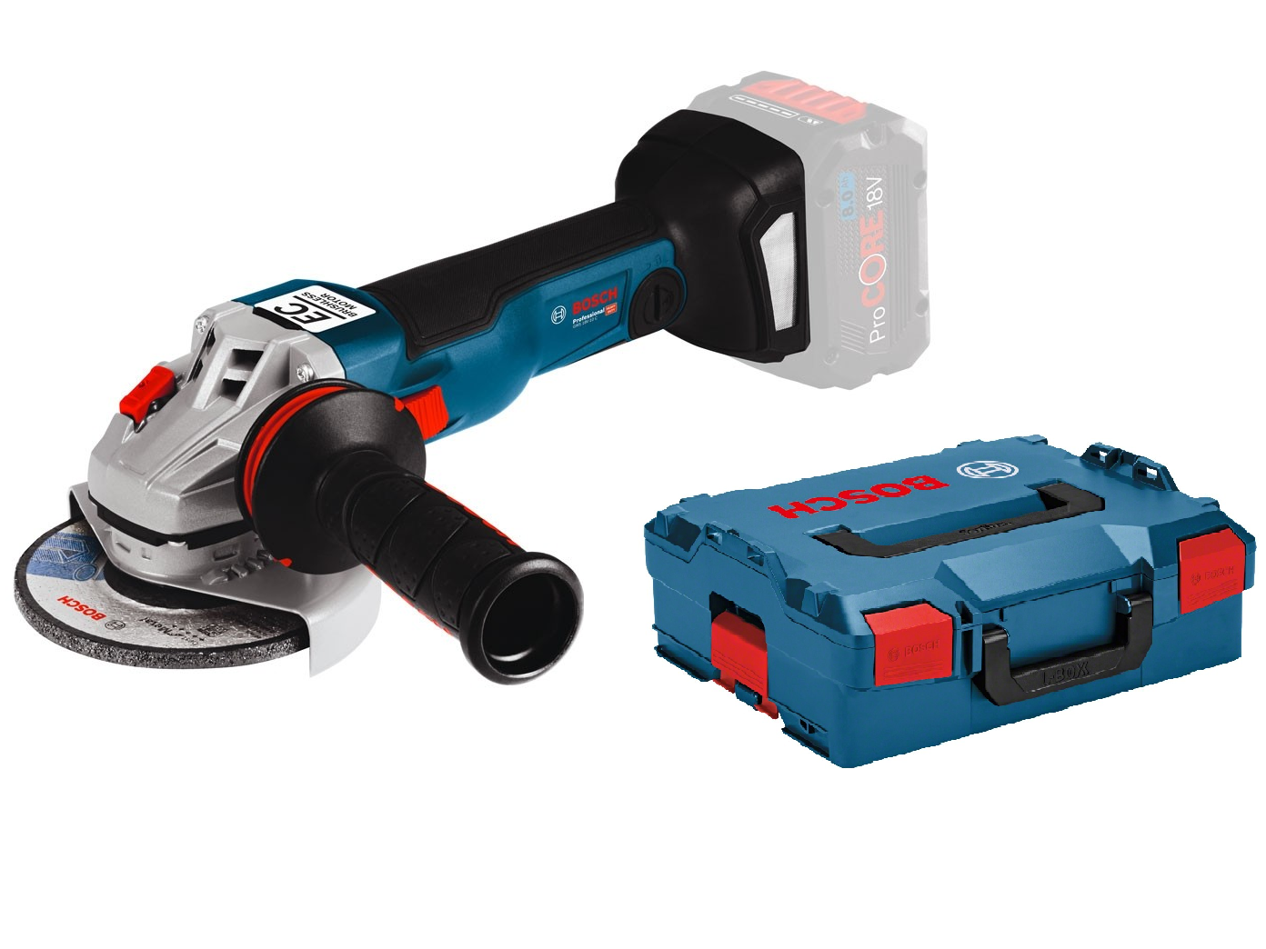 Aku úhlová bruska Bosch GWS 18V-10 SC Professional - 18V, 125mm, 2.0kg, kufr, bez akumulátoru a nabíječky (06019G350B) Bosch PROFI