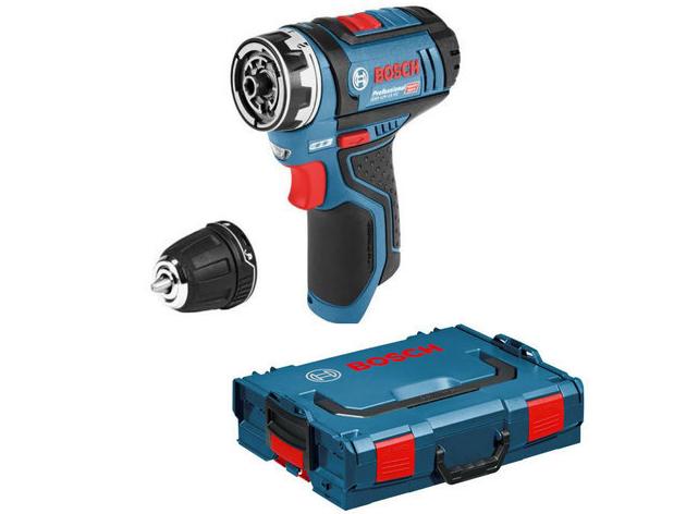 Aku vrtačka bez příklepu Bosch GSR 12V-15 FC Professional - 12V, 30Nm, 2 rychl., 0.6kg, kufr, bez akumulátoru a nabíječky (06019F6002) Bosch PROFI