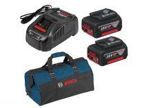 Bosch PROMIX18V5.0Ah Starter Set Professional - 2x aku GBA 18V/5.0Ah + nabíječka GAL 1880 CV + taška