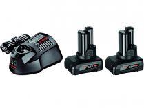 Bosch Startovací sada 2× GBA 12V 4.0 Ah + GAL 1230 CV Professional