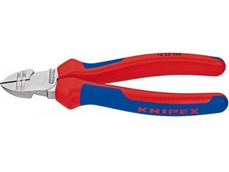 KNIPEX - Štípací kleště boční silové - 160mm, s prodlouženým břitem, chrom, pro vodiče 1,5 a 2,5 mm² a kabely NYM Ø 5x2.5mm (1425160)