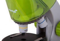 Mikroskop Levenhuk LabZZ M101 Lime, objektivy: 4x,10x,40x, zvětšení 640x, 2 baterie AA, zelený (57120052)