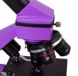 Mikroskop Levenhuk Rainbow 2L PLUS Amethyst, zvětšení 64-640x, experimentální sada, 3 baterie AA, fialový (57120033)