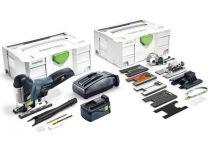 Festool PSC 420 Li 5,2 EBI-Set CARVEX - 1x 18V/5.2Ah, 120mm, příslušenství, kufr, aku přímočará pila