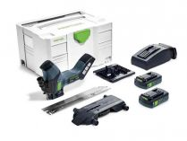 Bezuhlíková aku pila na izolační materiály Festool ISC 240 Li 3,1 EBI-Compact - 2x 18V/3.1Ah, kufr