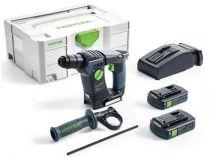 Bezuhlíkové aku vrtací kladivo SDS-plus Festool BHC 18 Li 3,1 I-Compact - 2x 18V/3.1Ah, 1.8J, kufr