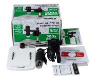 Mikroskop Levenhuk DTX 90 Digitální, zvětšení 10-300x, fotoaparát s rozlišením 5 Mpx, stojan s měřicí stupnicí 8x7cm (57120005)