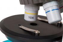 Mikroskop Levenhuk LabZZ M101 Azure, objektivy: 4x,10x,40x, 2 baterie AA, zvětšení 640x, modrý (57120051)