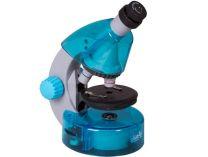 Mikroskop Levenhuk LabZZ M101 Azure, objektivy: 4x,10x,40x, zvětšení 640x, modrý